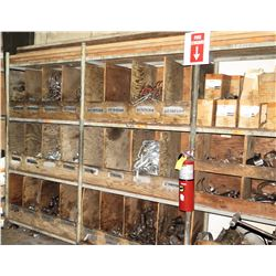 Shelf and Contents: Assorted Fittings, Clamps, Misc Couplings, More
