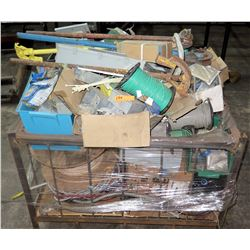 Metal Box w/Assorted Wire, Cable, Pipe Benders