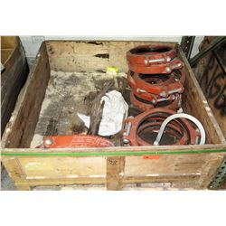Metal Box w/ Assorted Clamps & Connectors