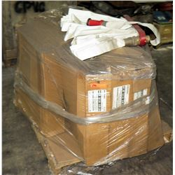 Pallet of Fire Hose and Hangers