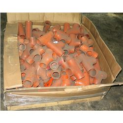 Large Box Orange T Fittings