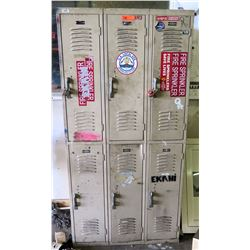 6-Compartment Metal Storage Locker System