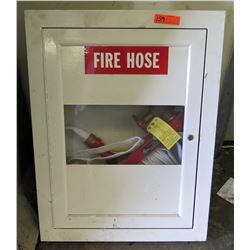 Wall Mount Metal Storage Box w/ Fire Hose