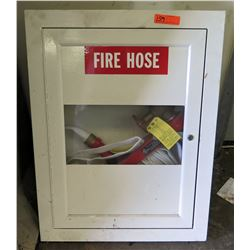 Wall Mount Metal Storage Box w/ Fire Hose