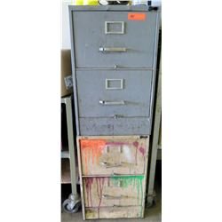 Qty 2 Metal Two Drawer File Cabinets