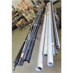 Pipes PVT & Metal: Black, Gray, White w/Rolling Rack