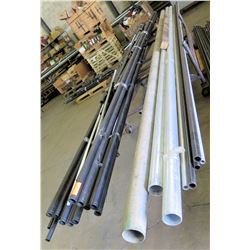 Pipes PVT & Metal: Black, Gray, White w/Rolling Rack (longest pcs are approx. 21')