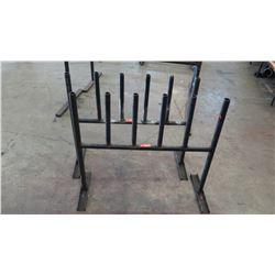 Qty 2 Black Metal Utility Pipe Racks