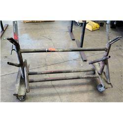 Metal Utility Pipe Rack w/ Wheels