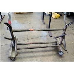 "Metal Utility Pipe Rack w/ Wheels (49"" L)"
