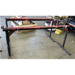 "Qty 2 Metal Utility Pipe Racks (82"" Length)"