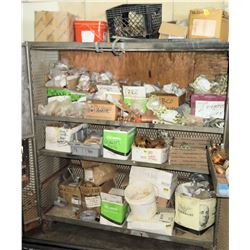 Shelf w/Contents: Couplings, Elbows, T's, Reducers & Misc Fittings