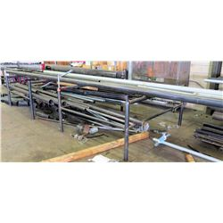 Utility Work Table/Pipe Rack w/ Large of Lot of Misc Pipes, Assorted Lengths