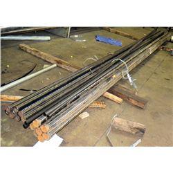 Qty 2 Bundles Misc Black Metal Pipes, Assorted Lengths