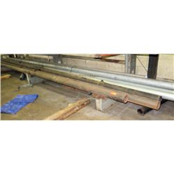 Qty 9 Large Long Metal Pipes