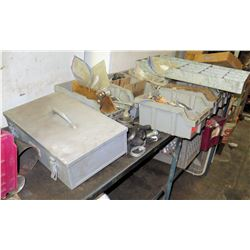 Metal Tool Box, Assorted Washers, Nuts, Bolts, & Screws