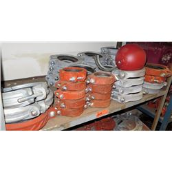 Assorted Orange and Metal Clamps & Collars