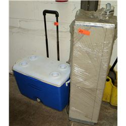 Drinking Fountain & Cooler w/ Wheels & Handle