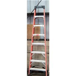 Qty 1 Red Tall Ladder 8'