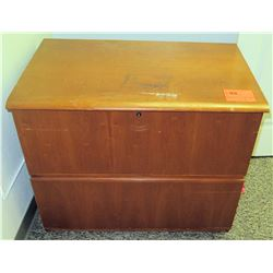 "Wooden 2-Drawer File Cabinet 34"" X 21"" X 29"" H"