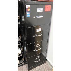 "Black Metal 4-Drawer File Cabinet 18""L x26.5"" W x 52"" H"