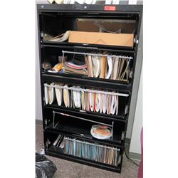 Black Metal Lateral 5-Drawer File Cabinet 36 w x 18  x 65  H