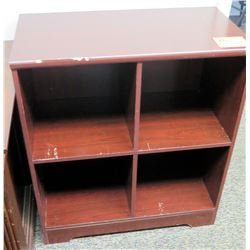 "4-Compartment Wooden Shelving Unit 30"" x 15.5"" D x 34.5"" H"