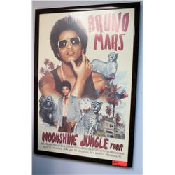"Framed Bruno Mars ""Moonshine Jungle Tour"" Poster"