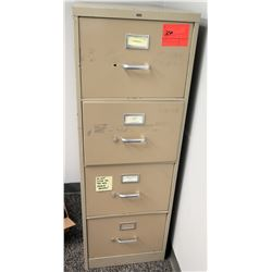 Beige 4-Drawer Metal File Cabinet