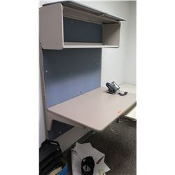 Wall Mounted Desk with Overhead Shelf Storage 4' x 30""