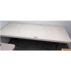 Portable White Folding Table