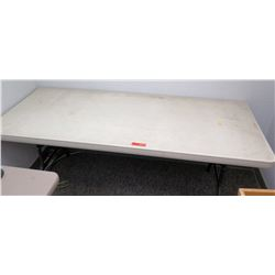 Portable White Folding Table 6' x 30
