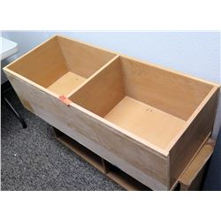 Wooden 2-Compartment Storage Box