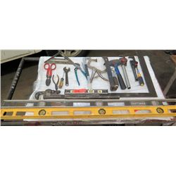 Levels, Pipe Wrench, Crescent Wrench, Tin Snips, Wire Cutters & More