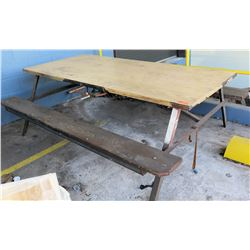Steel & Wooden Picnic Table
