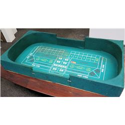 Green Table Top Portable Craps Game 6' x 31""