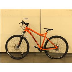 ORANGE NORCO STORM 9.2 FULL SUSPENSION MOUNTAIN BIKE WITH FRONT AND REAR HYDRAULIC DISC BRAKES