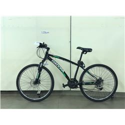 BLACK DIADORA ORMA FRONT SUSPENSION HYBRID MOUNTAIN BIKE WITH FRONT AND REAR DISC BRAKES