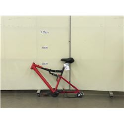RED NO NAME FULL SUSPENSION MOUNTAIN BIKE FRAME