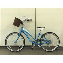 BLUE SIMPLE CRUISER BIKE WITH BASKET