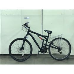BLACK NO NAME FULL SUSPENSION MOUNTAIN BIKE WITH FRONT AND REAR DISC BRAKES