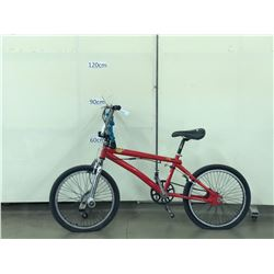 RED BMX BIKE WITH GYRO AND PEGS
