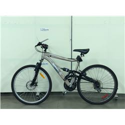 BEIGE DIAMONDBACK DB78 FULL SUSPENSION MOUNTAIN BIKE WITH FRONT DISC BRAKES