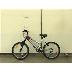 PURPLE AND GREY SUPERCYCLE IMPULSE-SE FRONT SUSPENSION KIDS MOUNTAIN BIKE