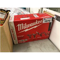 MILWAUKEE M12 5-TOOL COMBO KIT, NEW IN BOX