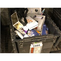 ASSORTED COSMETIC PRODUCTS INC. TOOTHBRUSHES, RAZORS, TOOTHPASTE AND MORE, BIN NOT INCLUDED