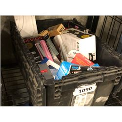 ASSORTED COSMETICS, HOUSEHOLD ITEMS, FRAGRANCES AND MORE, BIN NOT INCLUDED