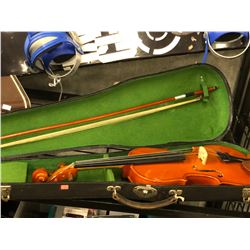 TELLER VIOLIN IN CASE, WITH BOW