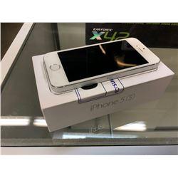 APPLE IPHONE 5S, SILVER, 16 GB, S/N DX3QLZJYFF9V