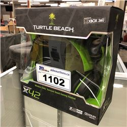 PAIR OF TURTLE BEACH X42 WIRELESS SURROUND SOUND GAMING HEADPHONES
